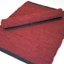 Bordstablett: Handvävd (Utgående modell) - Handvävd - Röd/Svart