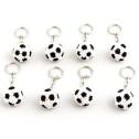 Nyckelring av pärlor - Nyckelring - Fotboll