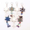 Nyckelring av pärlor - Nyckelring - Stjärna kulör