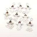 Nyckelring av pärlor - Nyckelring - Ängel Vit