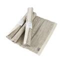 Bordstablett: Handvävd - Tablett Handvävd - Natur/Vit