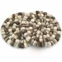 Karottunderlägg i tovad ull: Chunky - Chunky sten