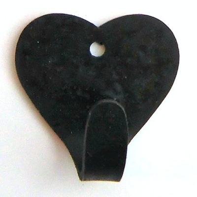 Väggkrokar i järn - 6 cm Hjärtkrok