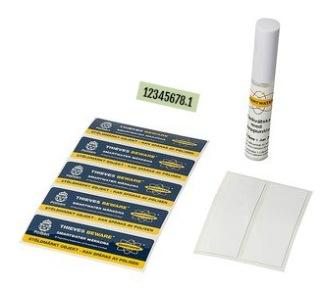 Märk-DNA marint paket med serienummerdekal (1 fordon)