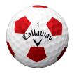 CALLAWAY CHROME SOFT  TRUVIS White Red - Chrome Soft Truvis Dussin White Red