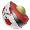CALLAWAY CHROME SOFT  TRUVIS White Red