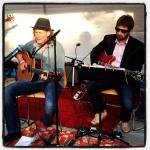 Fiskebäcks jazz- och bluesfestival 2013. Jag och Harald Bergengren.