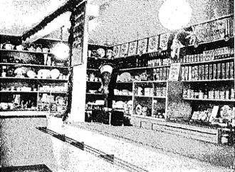 Interiör från affären cirka 1936.
