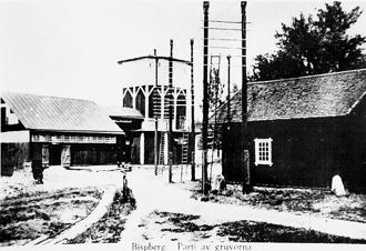 Laven över Vasaschaktet år 1890. Laven är här i sitt original-utförande.  Den byggdes senare till på höjden och fick då sitt nuvarande utseende.