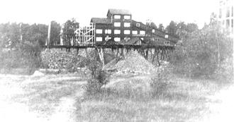 Anriknings-verket i Bispberg under utbyggnad 1937. Byggnationen blev färdig året därpå.