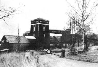 Anläggningarna vid Vasaschaktet i Bispberg vid tiden för nedläggningen 1967.
