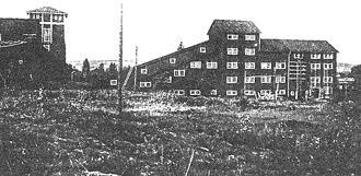 Anriknings-verket i Bispberg innan rivningen, som skedde 1974.