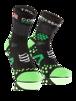 Pro Racing Socks V2.1 - Run High - Svart/Grön T2 (strl 39-41)