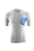 Casual Postural T-shirt HIBISCUS - VIT - XL