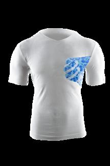 Casual Postural T-shirt HIBISCUS - VIT - M