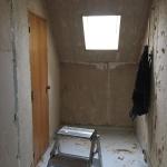 Hans nya badrum - renovering pågår