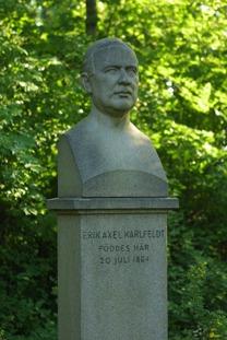 Arvid Backlunds skulptur av Karlfeldt