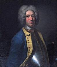 Petter Gotthard von Kochen. Porträtt av Johan Henrik Scheffel 1728. Krapperups borg.
