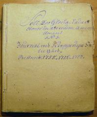 Petter Gotthard von Kochens dagbok för åren 1755, 1756 och 1757. Krapperups godsarkiv.