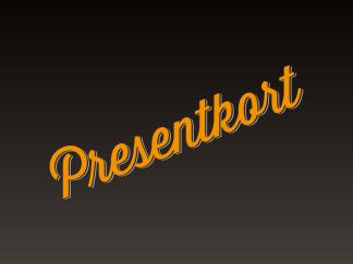 Presentkort bricka + frakt -