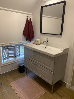Toalett dusch Röda sovrummet