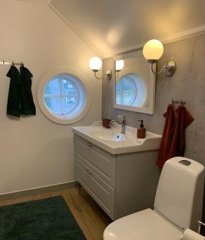 Toalett/dusch Gröna sovrummet