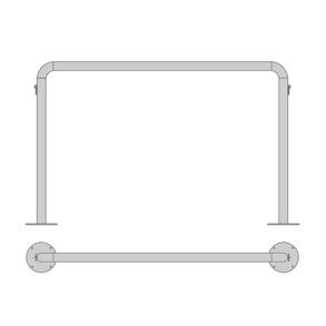 Uppställningsbåge/stolpe - Båge med 2 bindringar, 2000x1300 mm