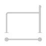 Uppställningsbåge/stolpe - Båge med stolpe, 2200x1300/1700 mm