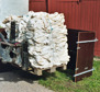 Packlåda för lantbruksplast