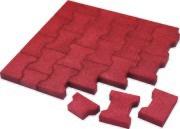 Gummitegel Elastic Paver Röd
