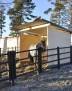 Vindskydd 3x3 m - 9 m² - Takplåt MTP 46