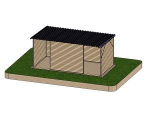 Vindskydd 3x6 m - 18 m²