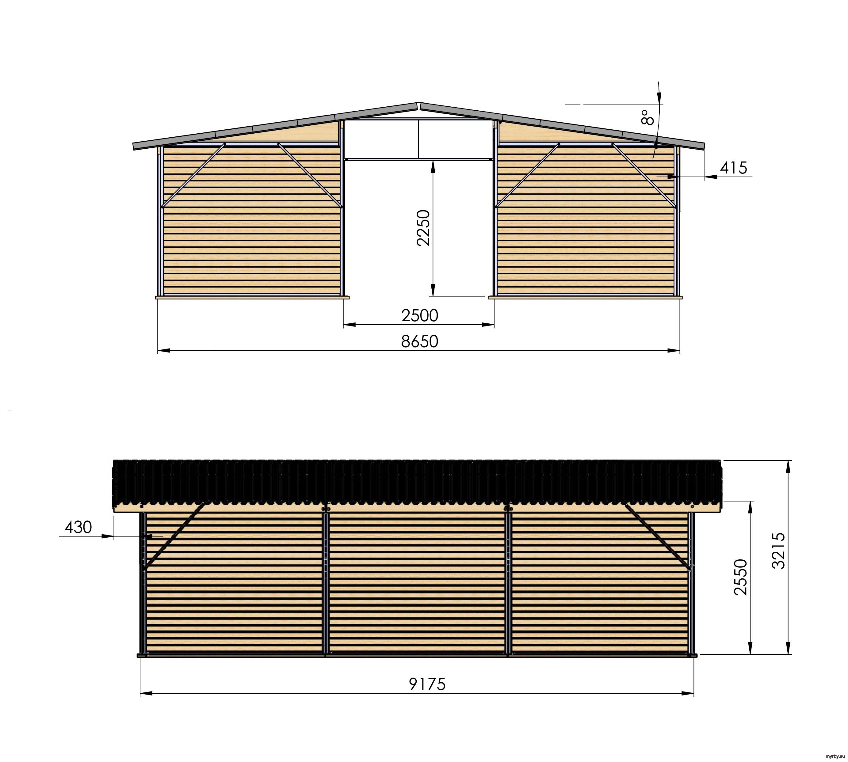 14208-17 Ligghall 78 m² Mått