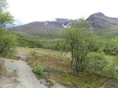 Efter 14 km, Stensdalen, färden fortsätter mot Vålåstugorna
