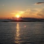 Solnedgång dag 1