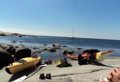 Fika - bad- och lunchstopp på klipporna.