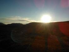 Härlig löpning i höstfjällen, klar luft vackra färger då solen ligger lågt över fjällen. Men nu längtar jag efter snö, minusgrader och skidor. Njut av  att vi har årstider!
