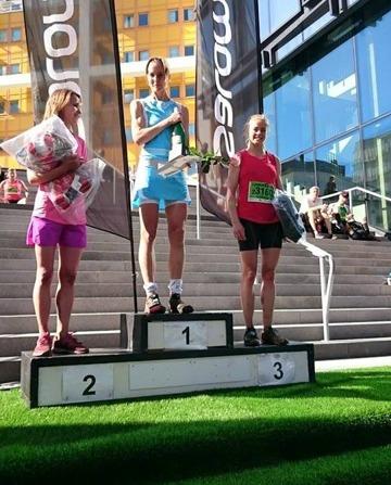 Prispallen damer 21 km Stockholm trail