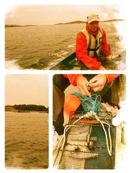 Krabbfiske, tyvärr gav det ingen fångst idag...