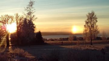 Mötte ett frostigt Ås. Härlig vinter! Nu längtar jag efter mer snö, kanske den finns i Vålådalen under nyår?