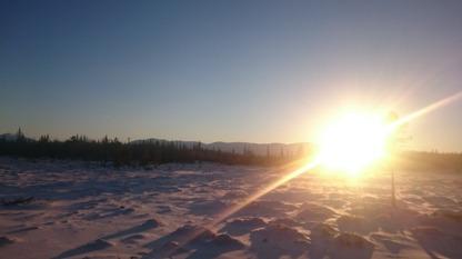 Hemfärden bjöd på sol, kallt men fantastisk vinterdag.