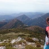 Utsikt jag och bergen