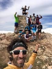 På våran topptur under lägret 2016, gruppen tillsammans med vår lokala guide Pau Jordan.