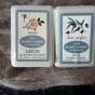 Härliga sheasmörtvålar med äppelros & oliv - Utförsäljning av två tvålar, M. Fabre.