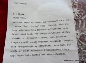 Dopklänningen var med på en utställning på Nordiska museet 1955