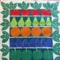Sommarpris! Astrid Sampe Design, Fruktlådan. I härliga klara färger.