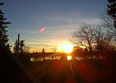 Solnedgång från vårt fönster på Tvärnö.