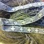 Två fint maskinknypplade spetsar. Över 10 meter lång.Oanvänd!