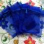 Utförsäljning! Organzapåsar i blått 12 x 9 cm, Nyvara. - Organsapåzar i blått, 5 stycken, nyvara.