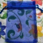 Utförsäljning! Organzapåsar i blått 12 x 9 cm, Nyvara.